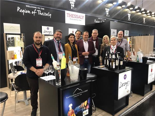 H Περιφέρεια Θεσσαλίας στην Διεθνή Έκθεση Οίνων & Αλκοολούχων ποτών «PROWEIN 2019»