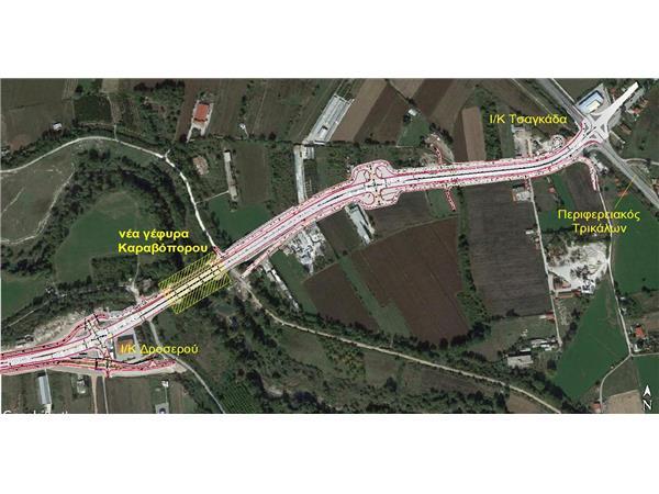 Προχωρά την κατασκευή του δρόμου από τον νέο κυκλικό κόμβο Μύλος Τσαγκάδα μέχρι τη γέφυρα Καραβόπορου η Περιφέρεια Θεσσαλίας