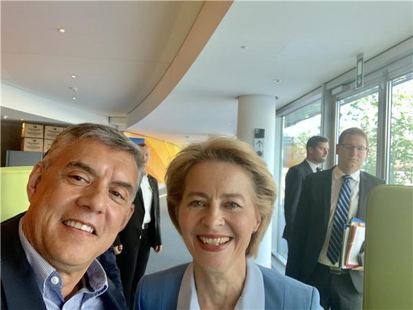 Συγχαρητήρια επιστολή του Προέδρου ΕΝΠΕ Κ. Αγοραστού στη νέα Πρόεδρο της Ευρωπαϊκής Επιτροπής Ούρσουλα φον ντερ Λάινενι