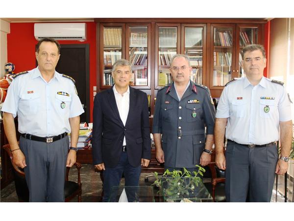 Συνάντηση του Περιφερειάρχη Θεσσαλίας με τον νέο Γενικό Περιφερειακό Αστυνομικό Διευθυντή Θεσσαλίας