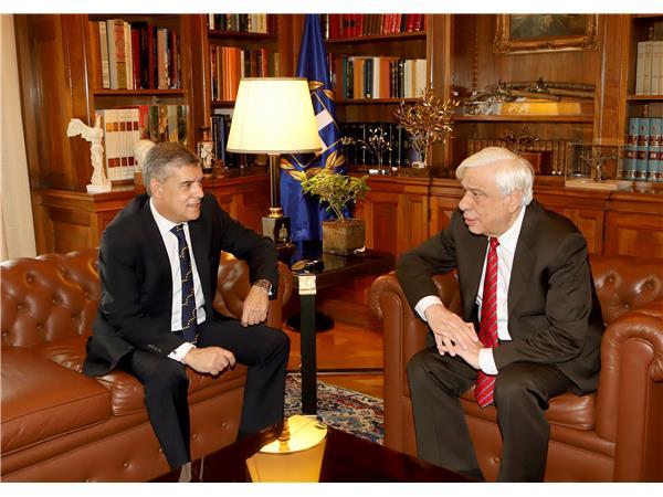 Τον Πρόεδρο της Δημοκρατίας επισκέπτεται σήμερα ο Πρόεδρος της ΕΝΠΕ και Περιφερειάρχης Θεσσαλίας
