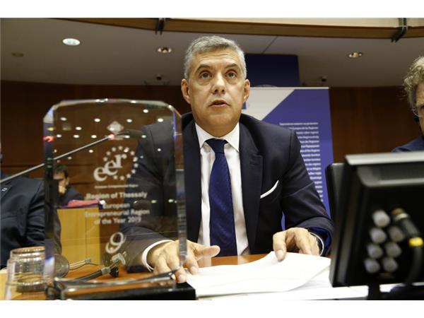 Στις Βρυξέλες ο Περιφερειάρχης Θεσσαλίας Κώστας Αγοραστός για την «Ευρωπαϊκή Εβδομάδα των Περιφερειών και των Πόλεων»