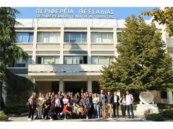 Μαθητές από σχολεία της Ισπανίας και της Ιταλίας επισκέφτηκαν την Περιφέρεια Θεσσαλίας στο πλαίσιο του προγράμματος Erasmus