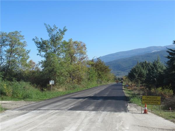 Σε εξέλιξη οι εργασίες συντήρησης του δρόμου Πυργετού – Παλαιόπυργου από την Περιφέρεια Θεσσαλίας