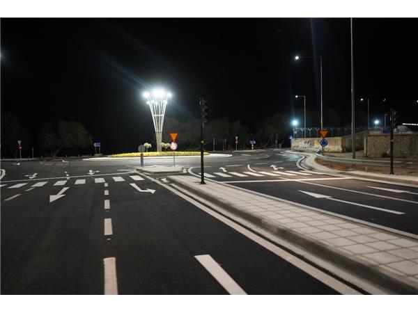 Στην κυκλοφορία δόθηκε από την Περιφέρεια Θεσσαλίας ο νέος κυκλικός κόμβος στα Αστέρια Αγριάς
