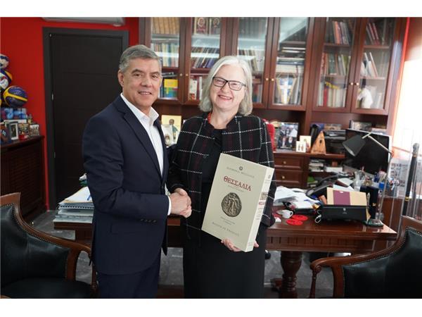 Συνάντηση του Περιφερειάρχη Θεσσαλίας με την Πρέσβη της Αυστρίας στην Ελλάδα