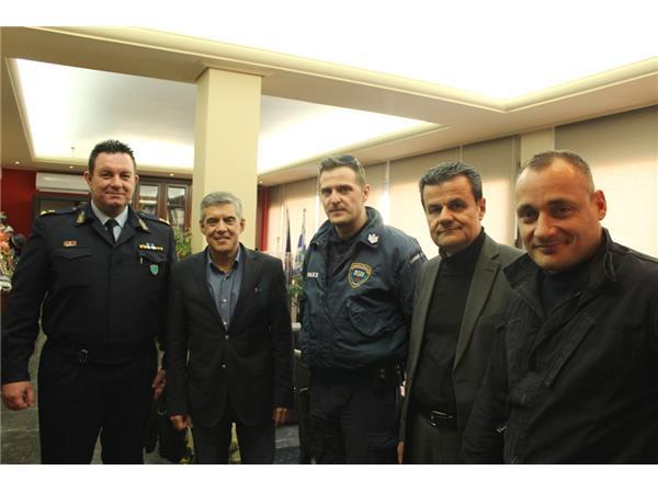 Συνάντηση του Διοικητή του Τμήματος Άμεσης Δράσης της Λάρισας με τον Περιφερειάρχη Θεσσαλίας
