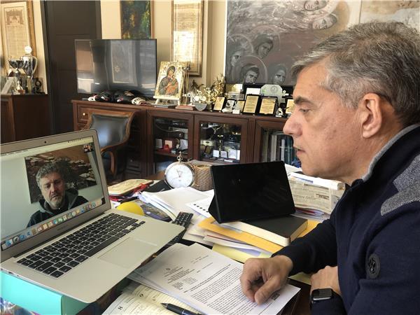 Τηλεδιάσκεψη Αγοραστού- Γκουντάρα για την πορεία των έργων στη Αγιά